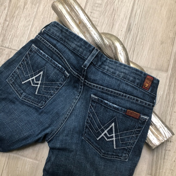 7 For All Mankind Denim - 7 For All Mankind A Pocket Bootcut Jeans Low Rise